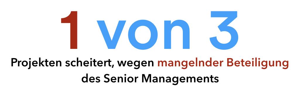 Software-Projekte scheitern häufig wegen mangelnder Beteiligung des Senior Managements
