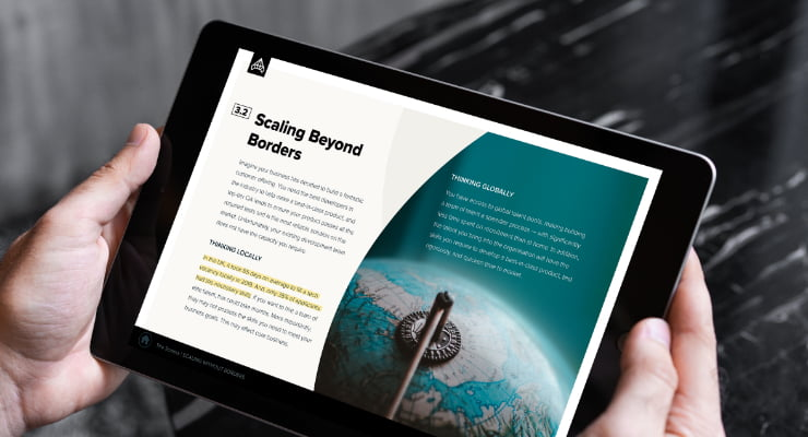 Scaling beyond borders tablet view