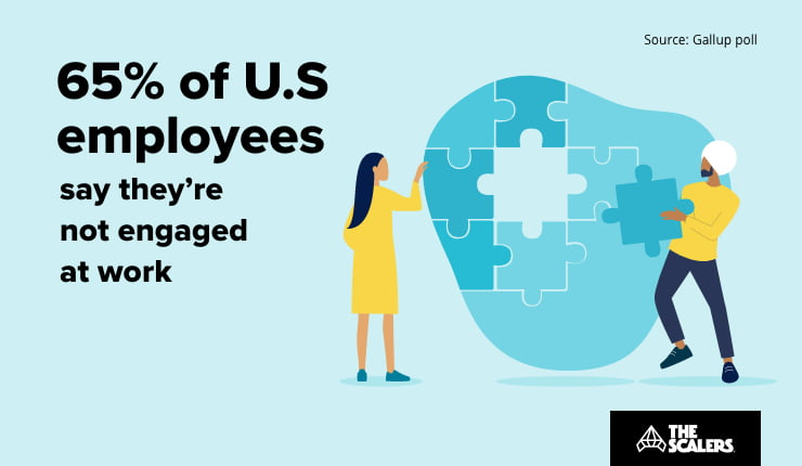 employees are not engaged at work